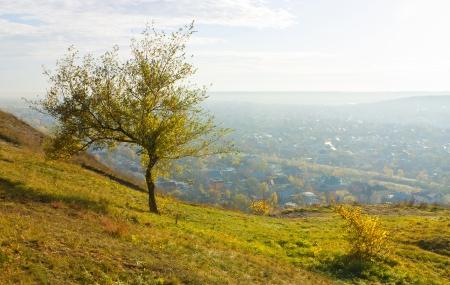 pyatigorsk: Colore di autunno, campagna, Pyatigorsk, Caucaso settentrionale.