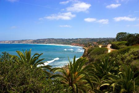 Ocean side suburb of La Jolla, San Diego, California photo