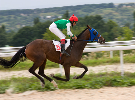 pyatigorsk: The race for the prize of the Derby in Pyatigorsk,Norhern Caucasus, Russia