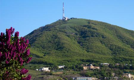pyatigorsk: View of the majestic Mount Mashuk from Pyatigorsk, Caucasus,Rusia.