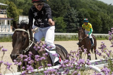 pyatigorsk: Race for the prize of the Letni in Pyatigorsk,Northern Caucasus, Russia.