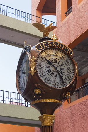 int: SAN DIEGO,USA - APRIL 27,2014 :Clock in shopping center Horton Plaza, San Diego,CA,Usa.