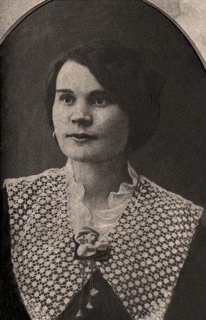 russian ethnicity: Vintage portrait of a russian woman. The shot was taken around 1912 year.