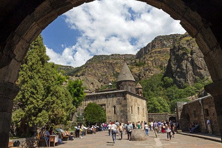 geghard: Geghard is a medieval monastery, located in the Kotayk province of Armenia Editorial