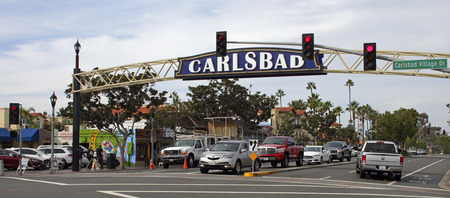 CARLSBAD , CA - NOVEMBER 15 :Historic heart of Carlsbad, California, on November15, 2016. Historical district, features a bustling entertainment scene with bars and restaurants.