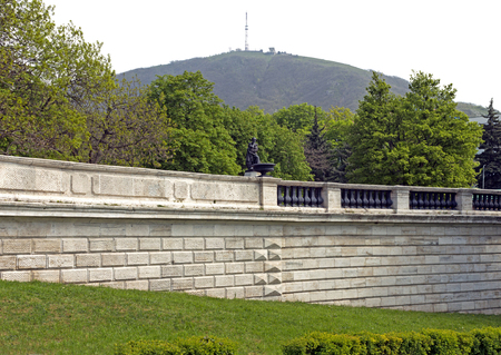 View Of The Beautiful Mount Mashuk and the ancient wall in Pyatigorsk,Northern Caucasus,Russia.