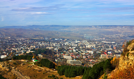 View of the largest resort city of Kislovodsk, Northern Caucasus,Russia. Stock Photo