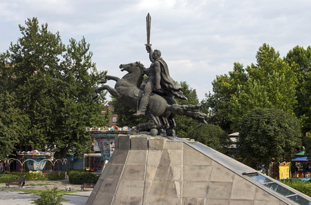 statesman: Yerevan,Armenia - July 15,2017:Monument to General Andranik Ozanyan - armenian commander and statesman in Yerevan, one of the oldest cities in the world. Editorial
