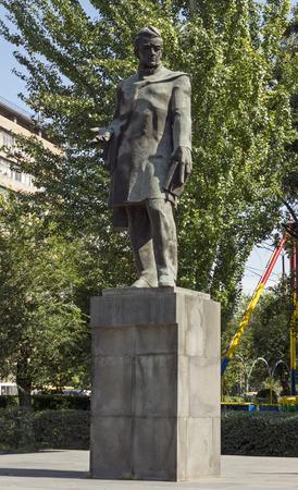 YEREVAN,ARMENIA - SEPTEMBER 30,2017:Alexander Griboedov(1795-1829) - Russian writer, diplomat, playwright, poet, and composer..Sculptor H.Bejanyan,architect S.Kntekhtsyan,1974.