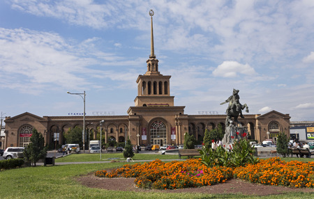 YEREVAN, ARMENIA - SEPTEMBER 29,2017 :Cental Train Station in Yerevan,Armenia. Editorial