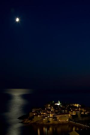 sveti: Sveti Stefan from the height of the moonlight
