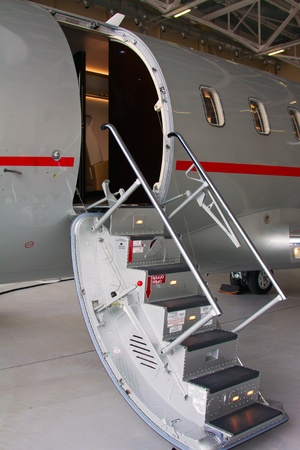 photo off ladder in a private jet photo