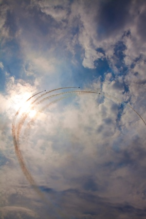 aerobatics: Jets do figure in the daytime