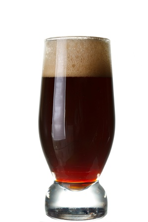 beerglass: a glass of dark beer