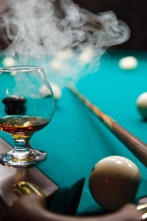 a glass of brandy Standard-Bild