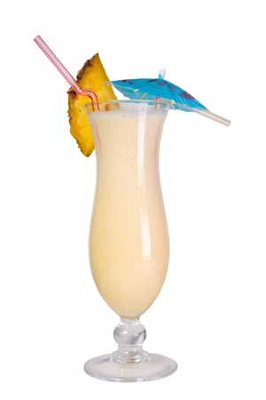 Pina Colada cocktail isolated Stock Photo - 13219901