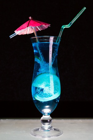 Blue Lagoon cocktail  photo
