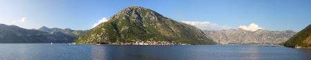 Bay of Boka Kotorska in sunny weather photo
