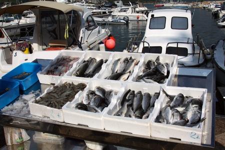 sale of fresh fish Standard-Bild