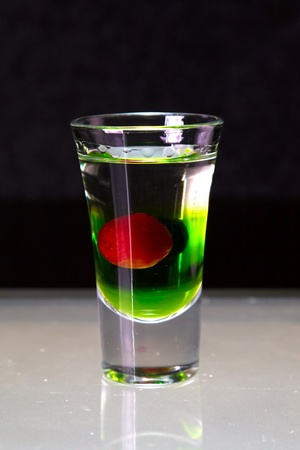 multi layered: cocktail layered shots
