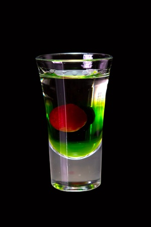 multi layered: cocktail layered shots isolated