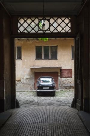 black vintage car photo