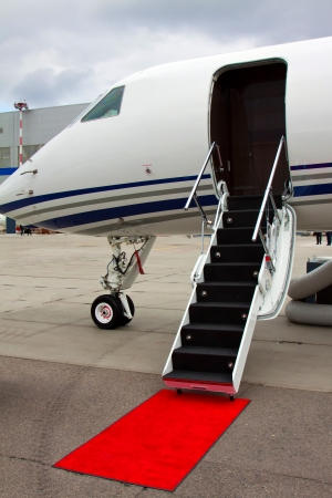 ladder in a private jet Stock Photo - 14564599