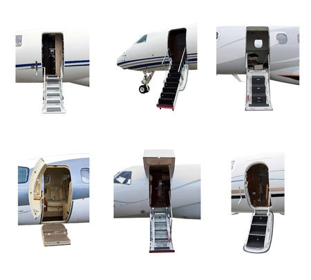 photo off ladders in a private jet photo
