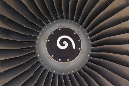 private parts: Wing and jet engine jet airliner