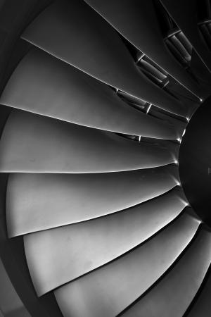 turbine engine: turbine blades jet engine aircraft civil photo