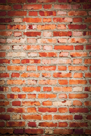 brick wall  red color close-up backgrounds photo