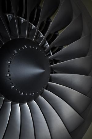 private parts: turbine blades jet engine aircraft civil photo