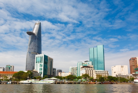 chi: business center in Ho Chi Minh City on Vietnam Saigon Stock Photo