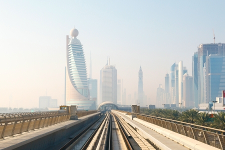 Metro Train in Dubai, United Arab Emirates photo