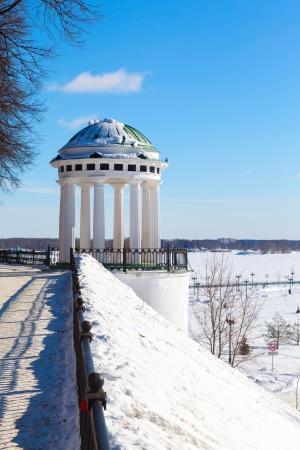 rotunda: Rotunda on river Volga quay in Yaroslavl Stock Photo