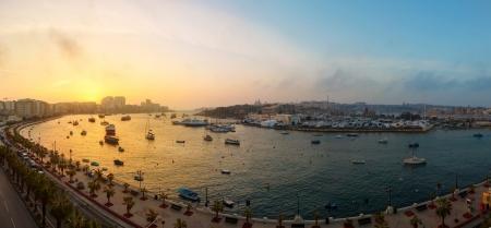 Dawn Manoel Island in Gziras Marsamxett Harbour, Malta