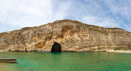 Malta,  Gozo Island, view of Dwejra internal lagoon photo