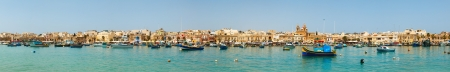 panoramic view of the harbor of Marsaxlokk, Malta 2013 photo
