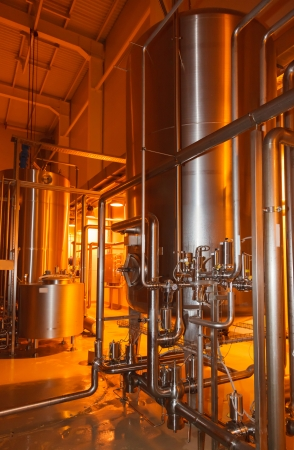 ferment: pipes, tanks for the food industry Stock Photo