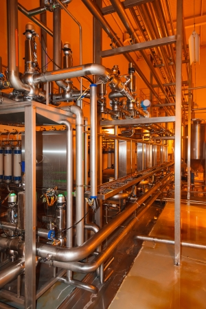 pipes, tanks for the food industry Standard-Bild