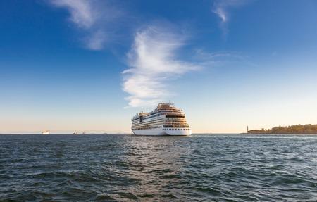 Luxury Cruise Ship in Bosphorus, Istanbul Turkey