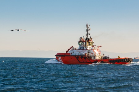 coast guard: Coast guard vessel in turkey on bosphorus
