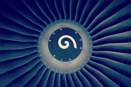 background, blade turbine engine civil aircraft closeup photo