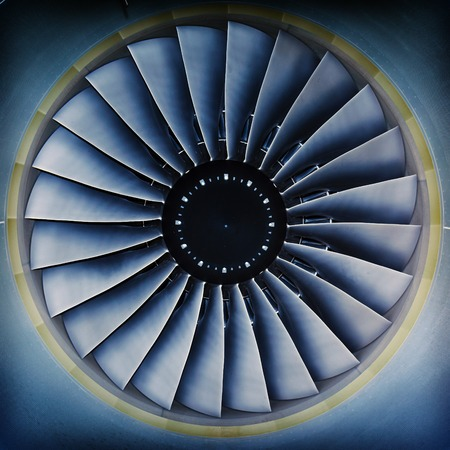 background, blade turbine engine civil aircraft closeup