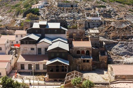 dank: Abandoned wooden buildings silver mine. Argentero, Sardinia
