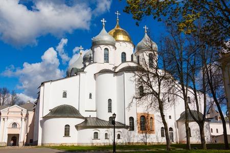 veliky: Saint Sophia Cathedral of Novgorod Kremlin in Veliky Novgorod, Russia Stock Photo