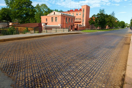 bypass: iron road surface on Penkovy bridge through a bypass channel