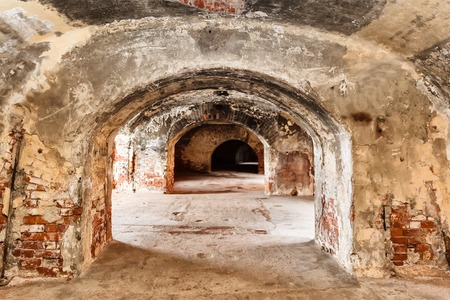 casemates in Fort Alexander Chumnoy in the Gulf of Finland