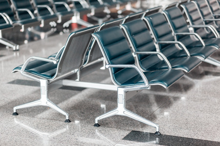 seating area: Empty departure lounge at the airport