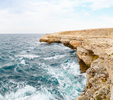 seascape, beautiful views of the cliffs and huge waves